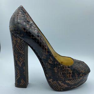 Michael Kors peekaboo snakeskin shoes